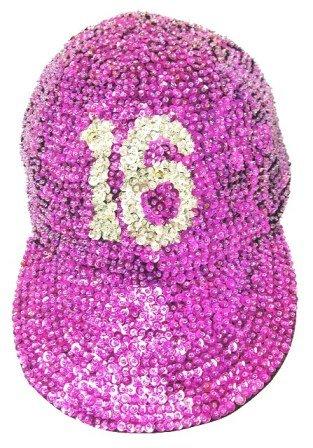 Image 0 of Sequin Baseball Cap Sweet 16