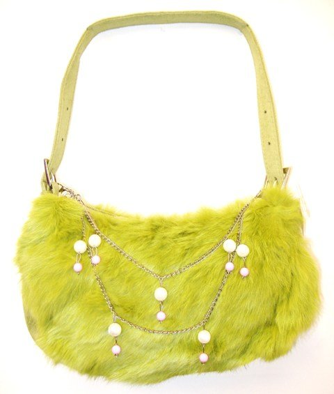 Image 0 of Furry Purse TB9391 Lime Green