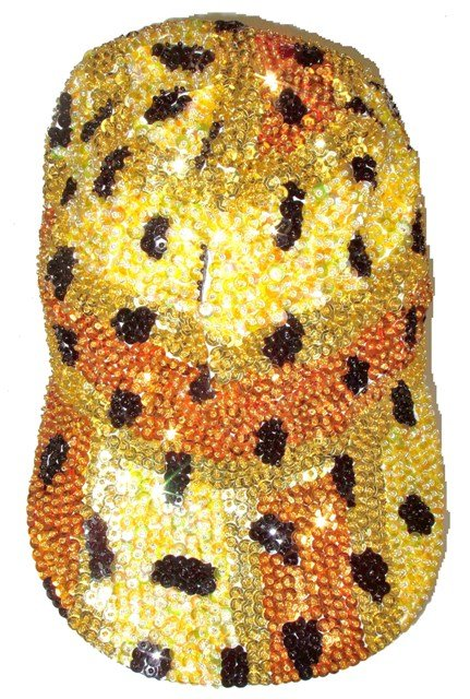 Image 0 of Sequin Baseball Cap Leopard Skin