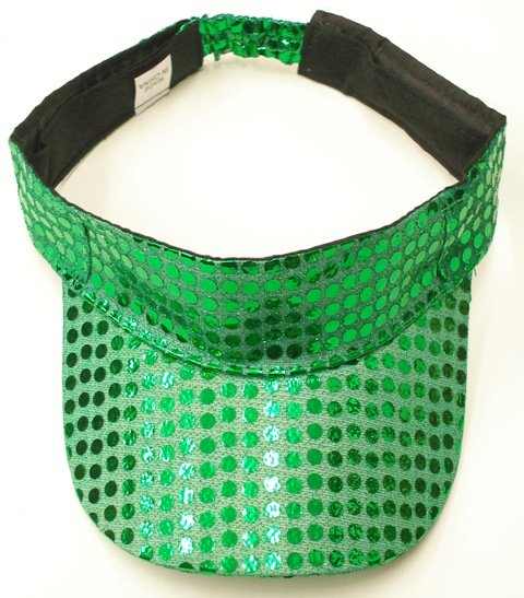 Image 0 of Sequin Fabric Visor Emerald Green