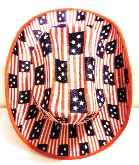 Image 0 of USA Pattern Cowboy Hat