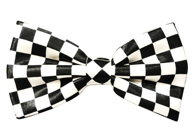 Image 0 of Bow Tie Black & White Checkered