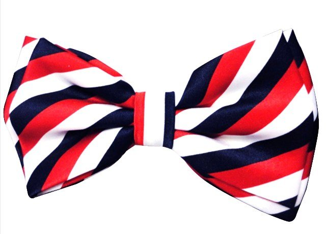 Image 0 of Bow Tie Red White & Blue Stripes