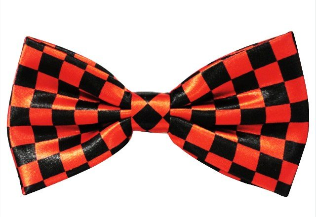 Image 0 of Bow Tie Black & Red Checkered