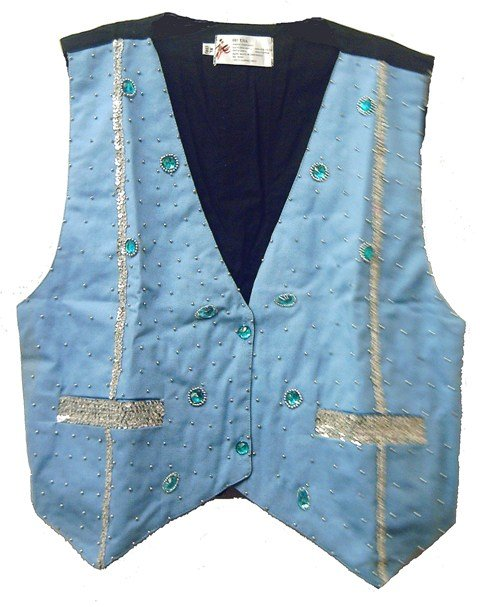 Image 0 of Denim Sequin Vest Lite Blue