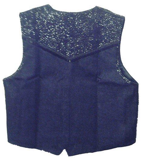 Image 1 of Denim Sequin Vest Black