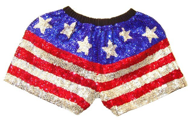 Image 0 of Sequin Short USA Stars & Stripes