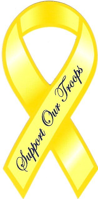 Image 0 of Ribbon Car Sticker Support Our Troops