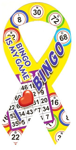 Image 0 of Ribbon Car Sticker I Love Bingo
