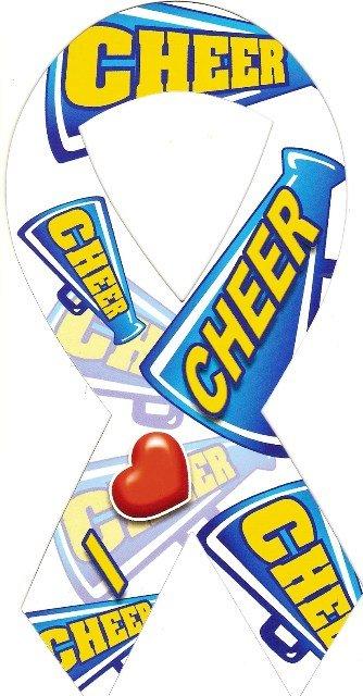 Image 0 of Ribbon Car Sticker I Love Cheer