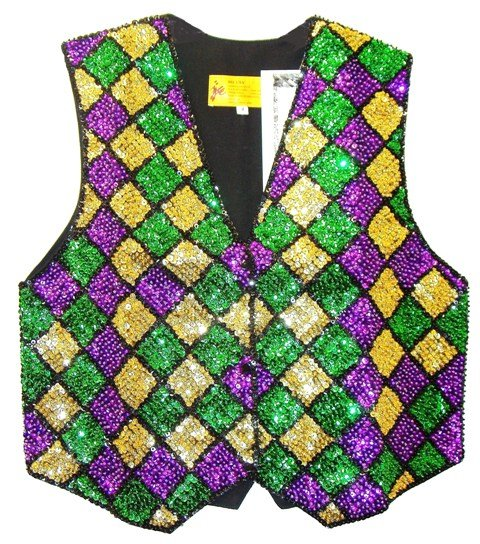 Image 0 of Sequin Vest Mardigra Square for Kids