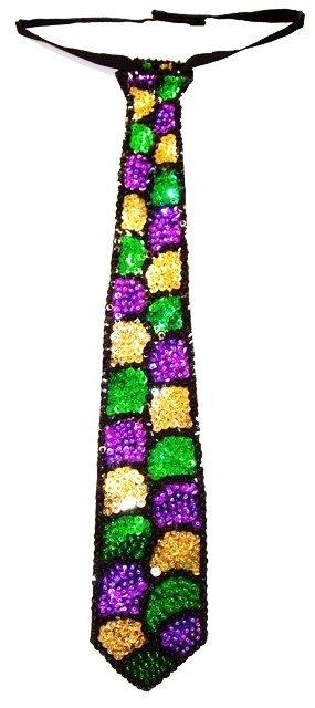 Image 0 of Sequin Neck Tie Mardigra Shell