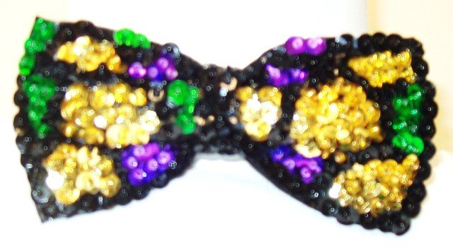 Image 0 of Sequin Bow Tie Mardigra Shell
