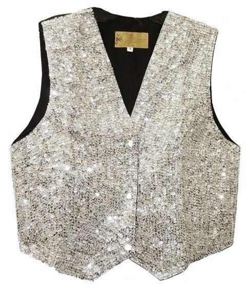 Image 0 of Sequin Vest Silver