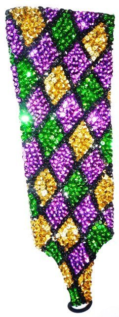 Image 0 of Sequin Elbow Gloves MARDI GRAS SQUARE Costume