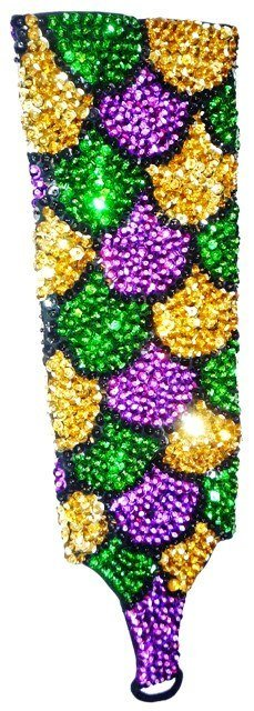 Image 0 of Sequin Elbow Gloves Mardigras Shell