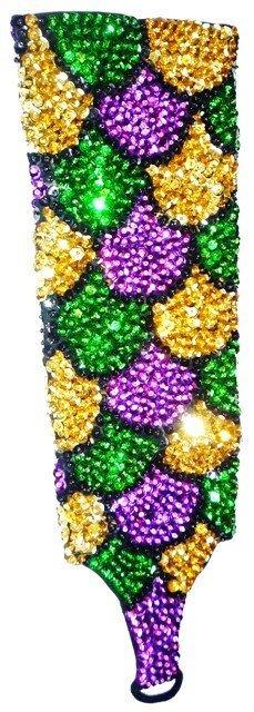 Image 0 of Sequin Elbow Gloves MARDI GRAS SHELLS Costume