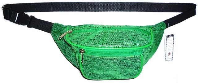 Image 0 of Sequined Fanny Pack GREEN