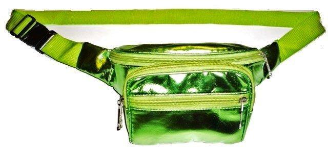 Image 0 of Metallic PVC Fanny Pack Light GREEN