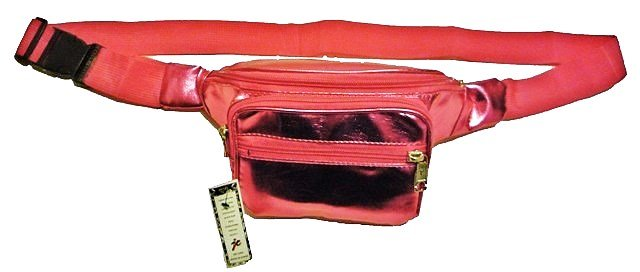 Image 0 of Metallic PVC Fanny Pack RED