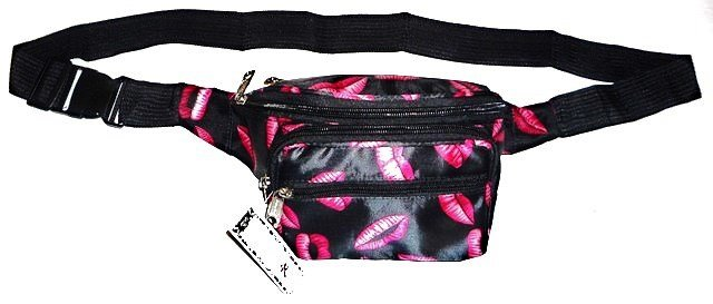 Image 0 of Fanny Pack BLACK LIPS Hot Sexy
