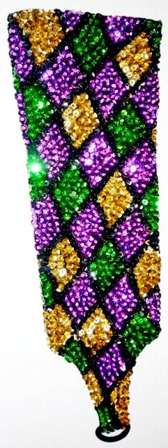 Image 0 of Sequin Elbow Gloves Mardigras Square