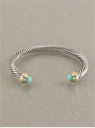 turquoise  silver twist bracelet