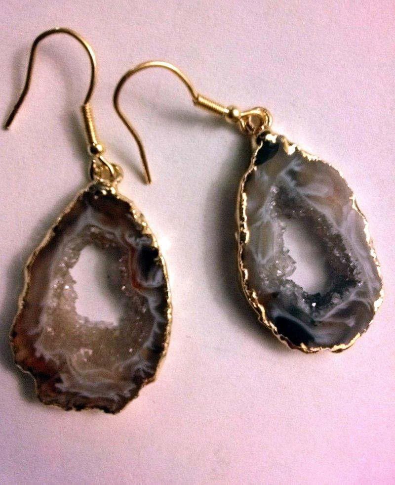 occo druzy earrings
