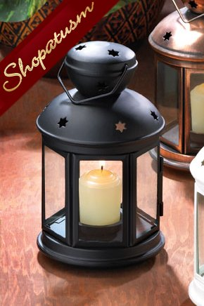 12 Black Colonial Candle Lanterns Lamp Wedding Centerpieces
