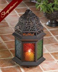 12 Wholesale Lanterns, Amber, Green, Blue, Large Candle Lanterns, Bulk Lot
