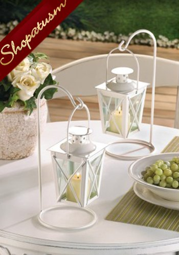 36 x 2 Candle Lanterns White Hanging Wedding Centerpieces