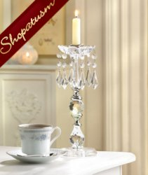 Acrylic Centerpiece Crystal Beads Taper Candle Stick
