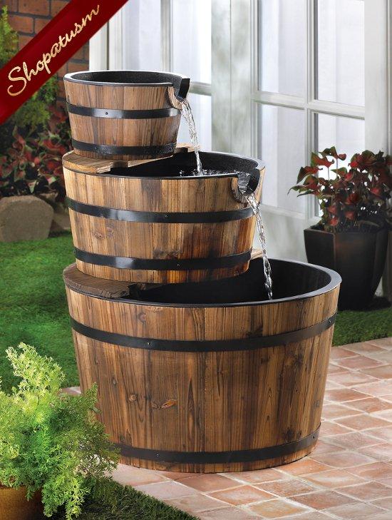Apple Barrel Fountain Waterfalls Indoor Outdoor Fountain