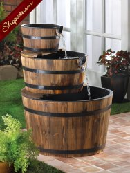 Apple Barrel Fountain Waterfalls Indoor Outdoor Water Pump