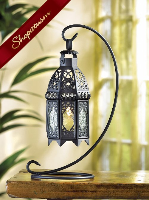 Black Moroccan Wedding Centerpiece Table Candle Lantern