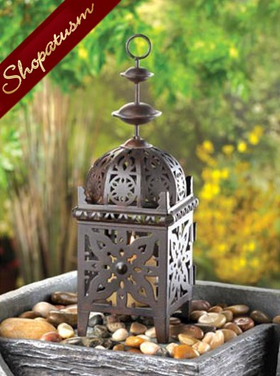 12 Black Small Wedding Moroccan Candle Lanterns Centerpieces