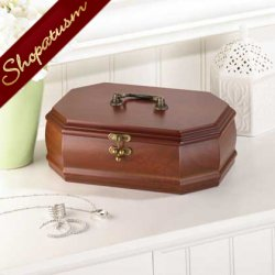 Elegant Rosewood Jewelry Keepsake Storage Box Case