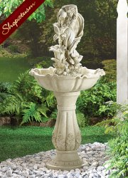 Fairy Pedestal Fountain, Fairy Garden Fountain, Fairy Sculpture Fountain