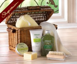 Healing Spa Gift Basket, Bath Gift Basket, Olive Oil, Avocado, Lemon Gift Set