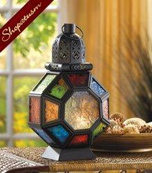 10 Rainbow Moroccan Market Multi Color Candle Lantern