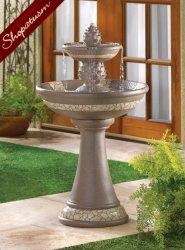 Mosaic Sculpture Pineapple Fountain Garden Decor Indoor Outdoor With Water Pump