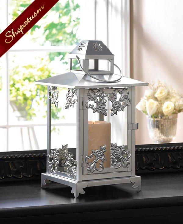 48 Wholesale Ornate Silver Candle Lanterns Wedding Centerpieces
