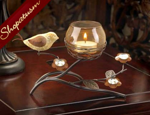 Image 0 of Partridge Nest Tealight Candle Holder