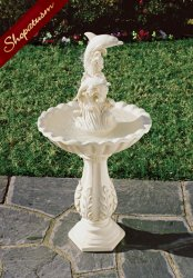 Playful Dolphins Pedestal Fountain Indoor Outdoor Garden Decor With Pump