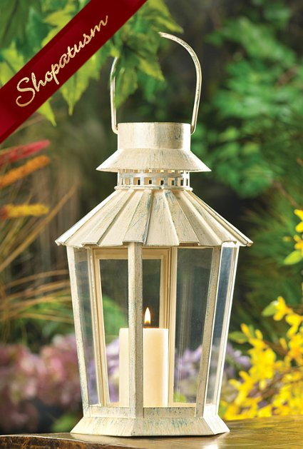 Wholesale lanterns ivory garden shabby chic