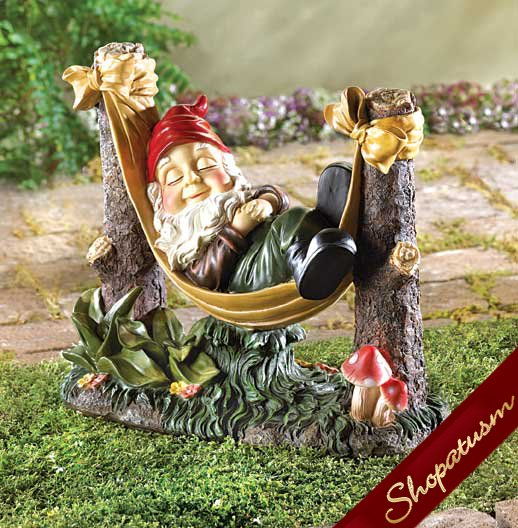 Slumbering Gnome Indoor Outdoor Garden Statue