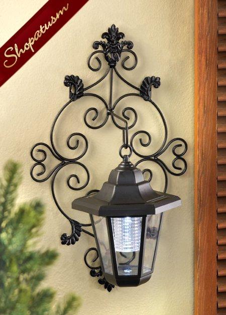 Image 0 of Solar Garden Yard Outdoor Wall Lantern