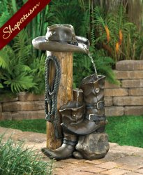 Western Ranch Style Fountain, Western Garden Fountain, Ranch Style Fountains