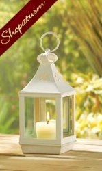 50 Wedding Lanterns Small White Classic Cutwork Garden Wholesale