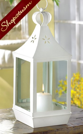 24 Fancy Nail Art Designs That You Ll Love: 24 White Fancy Large Garden Candle Lantern Wedding